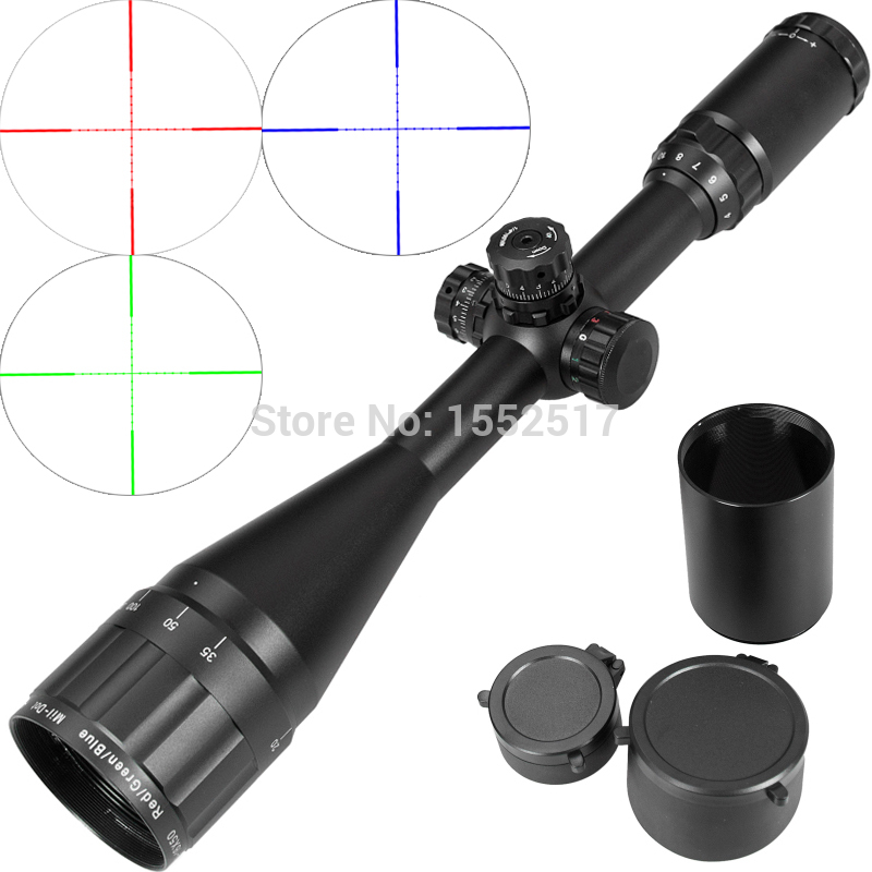 Leapers Tactical 4-16X50 AO Riflescope Optical Sight Full Size Mil Dot Red Green Blue llluminate Hunting Rifle Scope tactial qd release rifle scope 3 9x32 1maol mil dot hunting riflescope with sun shade tactical optical sight tube equipment