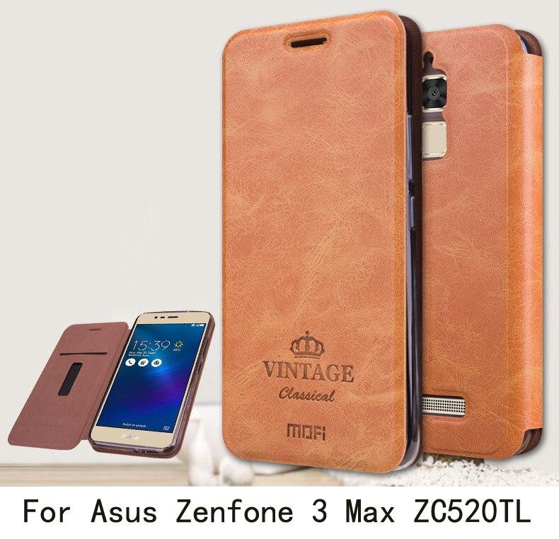 mofi for asus zenfone 3 max zc520tl case luxury flip pu. Black Bedroom Furniture Sets. Home Design Ideas