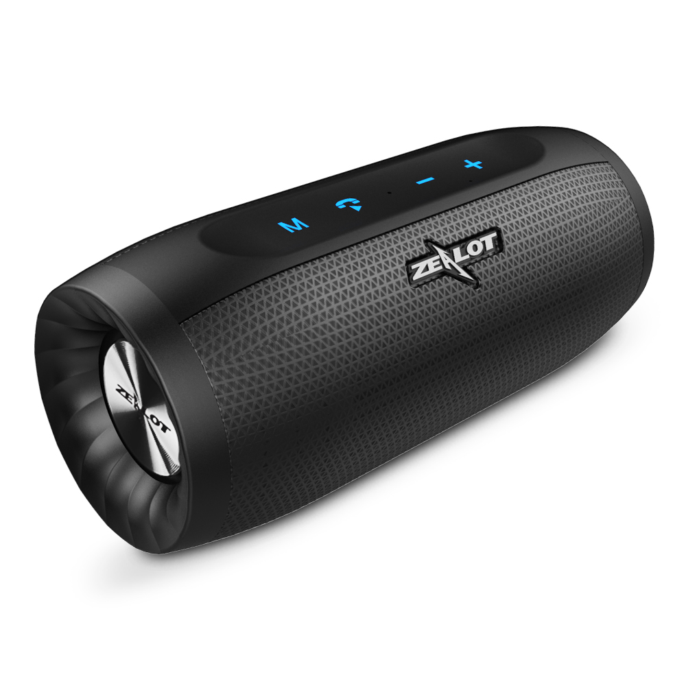 ZEALOT S16 Super Bass Bluetooth Speaker Wireless Stereo Soundbar AUX TF Card Play Outdoor Handsfree With Microphone zealot handsfree wireless portable speaker touch operation bluetooth speaker power bank aux tf card slot shockproof tpu cover