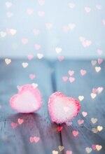 Laeacco Счастливый День святого Валентина любовь сердце узор деревянная доска вечерние фотографические фоны фото экраны для фотостудии