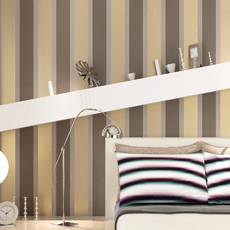 Papel de parede listrado picture more detailed picture for Grey striped wallpaper living room