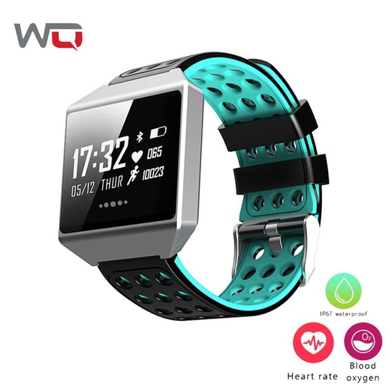 WQ CK12 bracelet connecté 1.3 Pouces traqueur de remise en forme bracelet intelligent Soutien de Fréquence Cardiaque Smart Sang Pression Wristbanad PK Fit Bit
