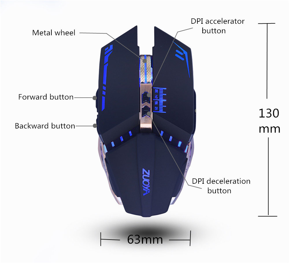 Professional gamer Gaming Mouse 8D 3200DPI