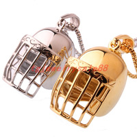 50mm*33mm Classic Fashion Stainless Steel Baseball Hat Pendant Necklace Men's Biker Silver Gold Color Gothic Pendant Jewelry
