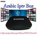 android 7.1 iptv europe HAOSIHD box with one year cccam server iptv code,arabic iptv box tv free italia sweden media player