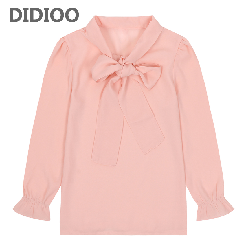 Toddlers Chiffon   Blouses   For Girls Long Sleeve   Shirts   2018 Autumn Tops Baby Clothes Spring Teenage School Uniforms 18M 5 9 11 13