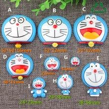 Pokonyan Doraemon Resin Decoration Crafts Beads 10 pcs Flatback Cabochon Kawaii Embellishments For Scrapbooking DIY Accessories
