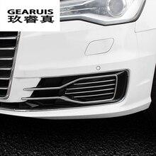 Proiettori fendinebbia anteriori auto copre Adesivi griglia doghe nebbia dell'automobile luci decorative strisce Car styling per Audi A6 C7 auto accessori