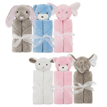 Baby Blankets Winter Bedding Newborn Thermal Soft Blanket Warm Coral Fleece Plush Animal Toy