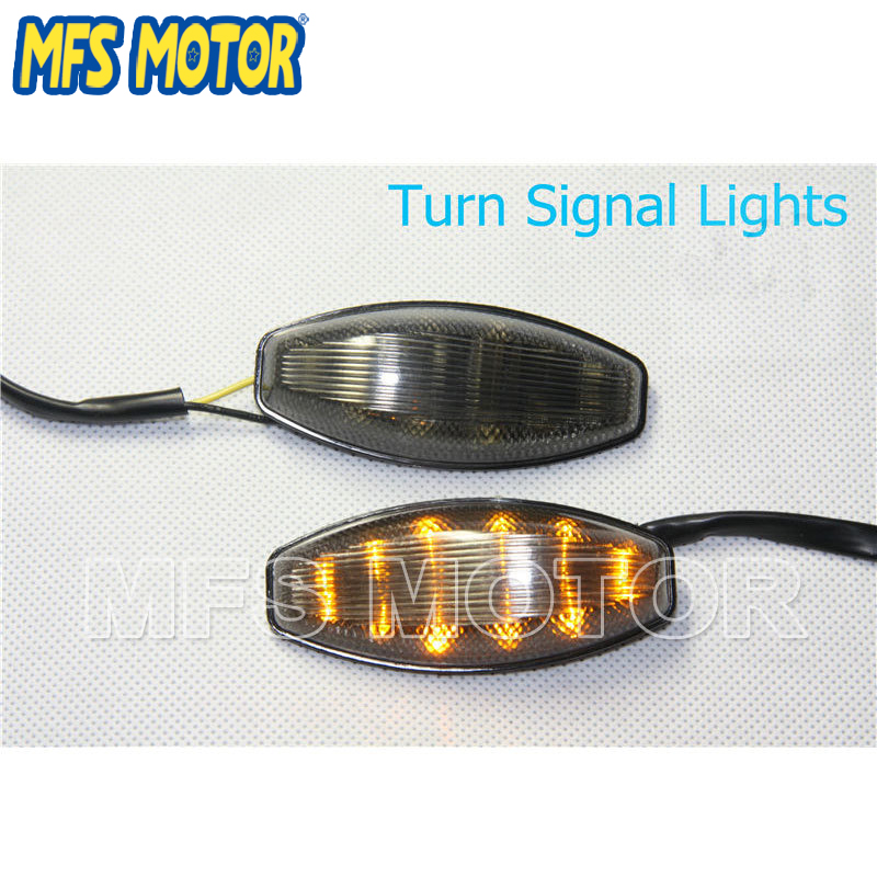 Motorcycle parts LED Flush mount Turn Signal lens for Yamaha YZF R1YZF-R1 YZFR1 1998 1999 Smoke