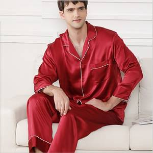 Pants Pajamas-Set Night-Suit Homewear Two-Piece-Sets Long-Sleeve Silk Summer New Autumn