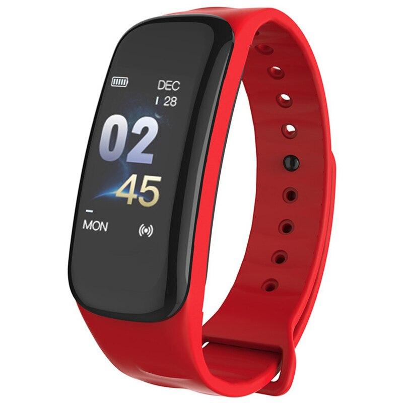 C1S Wearfit Bracelet intelligent montre mesure de la pression artérielle moniteur de fréquence cardiaque Cardiaco Tracker de Fitness Bracelet intelligent