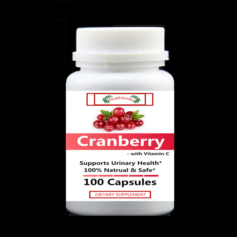Cranberry Extract with Vitamin C, For Urinary Care & Enhance Immune System For all People,100pcs/bottle,free shipping 1000mg 100 pcs fish oil bottle for health capsules omega 3 dha epa with free shipping