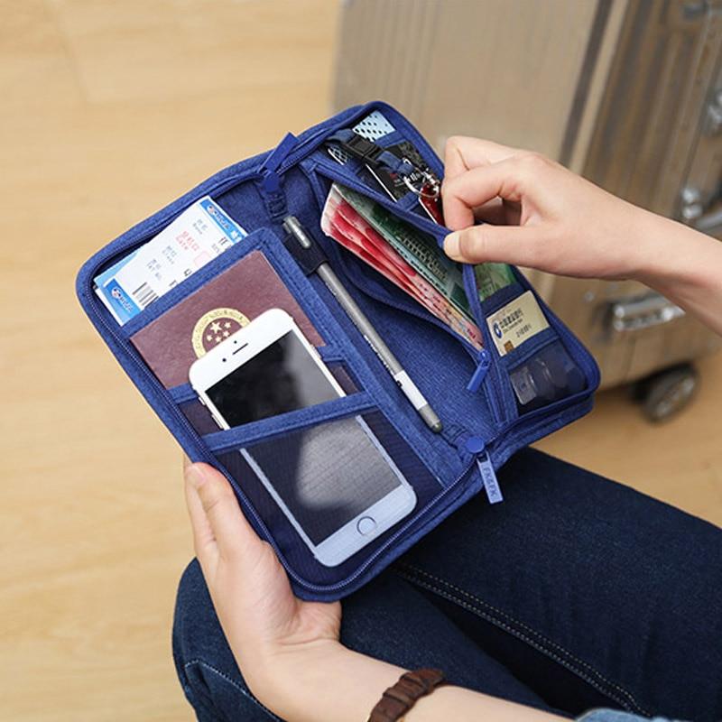 Travel Passport Cover Multifunction Wallet Document Organizer Cover Men Women Business ID Card Holder Case Wrist Strap PC0047 (11)
