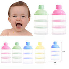 Hot Sale Portable Baby Bottle Milk Box Powder Dispenser Container 3 Layers Storage Formula Feeding Safe PP biberon mamadeira14CM(China)