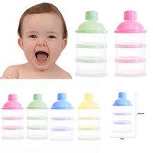 Heißer Verkauf Tragbare Baby Flasche Milch Box Pulver Dispenser Container 3 Schichten Lagerung Formel Fütterung Sicher PP biberon mamadeira14CM