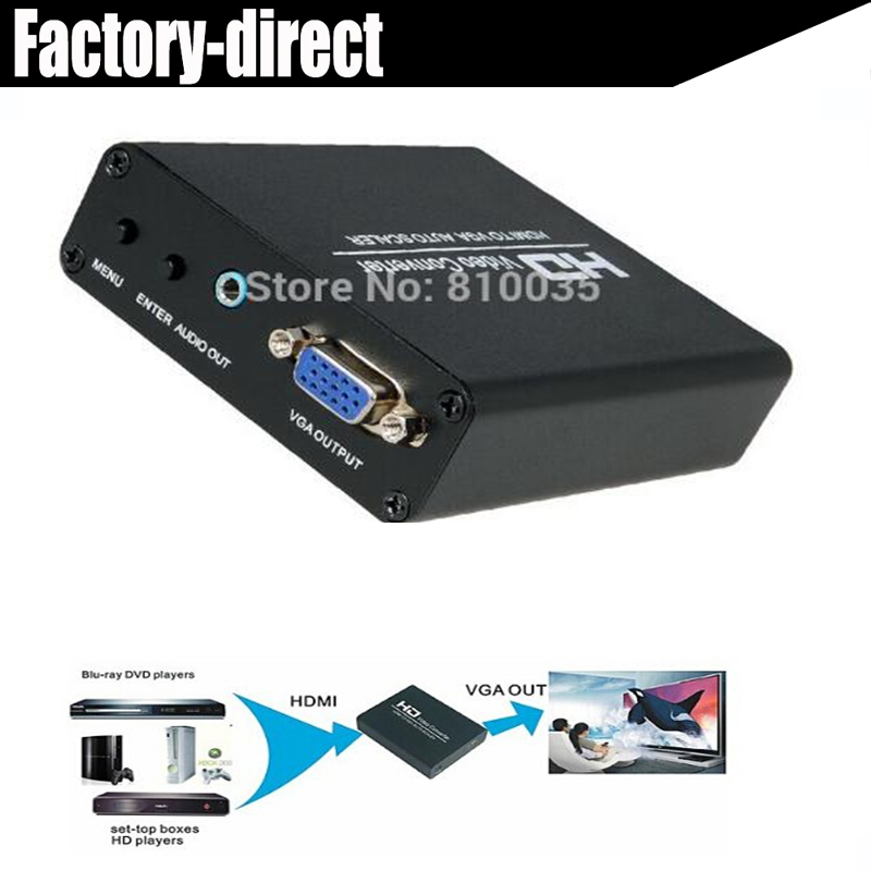 1080P HDMI to VGA Scaler audio output converter HDCP decoder up to 1920X1080 supported