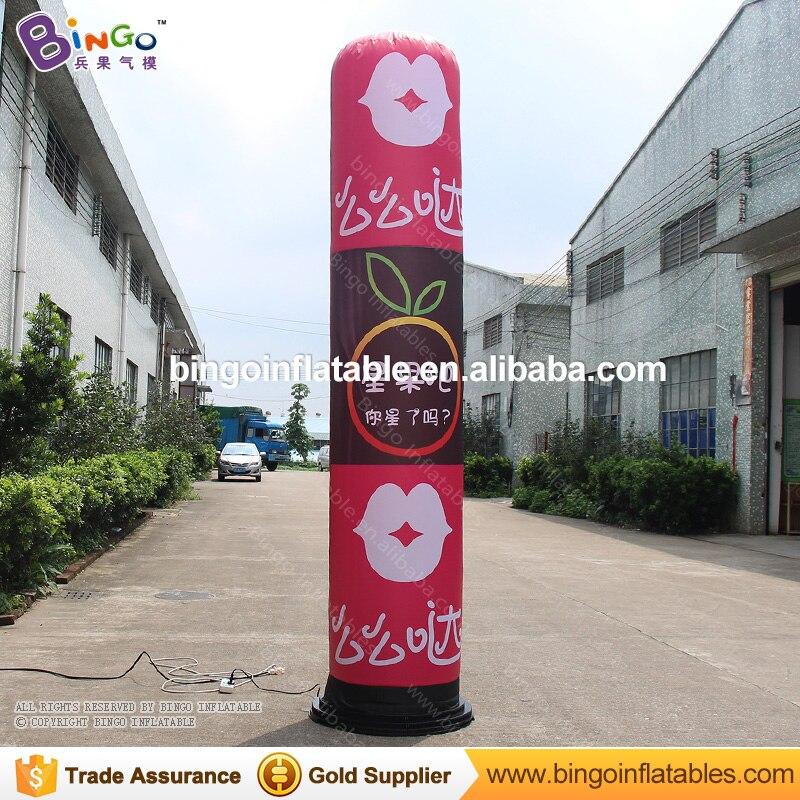 3 m/10ft Full Impressão Publicidade levou luz pilar inflável/inflável da coluna/tubo inflável para a decoração ao ar livre tubo de brinquedo