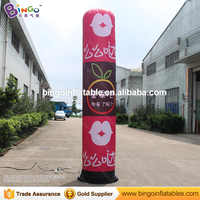 3m/10ft Full Printing Advertising led light inflatable pillar/inflatable column/ inflatable tube for outdoor decoration tube toy
