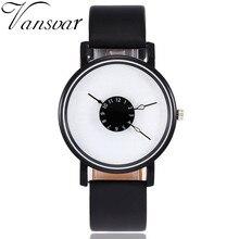 Vansvar Brand Fashion Creative Watches Women Men Quartz Watch Unique Dial Design Watch Leather Wristwatches Relogio Feminino