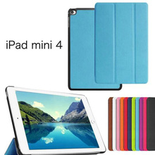 ocube Luxurious Tri-Fold Extremely Slim Magnetic Folio Stand Holder PU Leather-based Case Cowl For Apple iPad Mini four Mini4 7.9″Pill