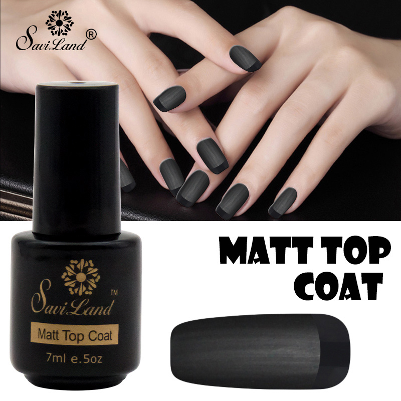 Us 0 89 45 Off Saviland 7ml Matte Top Coat Nail Art Gel Lacquer Uv Led Transparent Top Coat Gel Varnish Soak Off Matte Top Gel Nails Polish In Nail