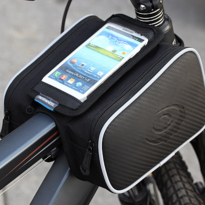 ROSWHEEL Bicycle Smart Phone Bag 5.0/5.5 inch Touch Screen Top Frame Tube MTB Road Bike Cycling Storage Bycicle Bolsa 12813 цена 2017