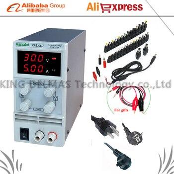 Mini Regulowany Cyfrowy zasilanie DC 0 ~ 30 V 0 ~ 5A 110 V-220 V Przełączania Zasilania zasilanie 0.1 V/0.01A Dla USA/EU/AU Plug + 34/szt dc jack