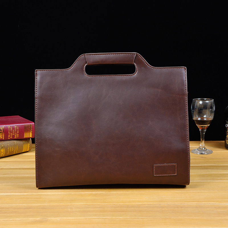 Image 3 - 2019 Vintage Men's Briefcase Business Office Bags Crazy horse Leather Handbag NEW computer laptop Bag Casual Crossbody bags-in Briefcases from Luggage & Bags
