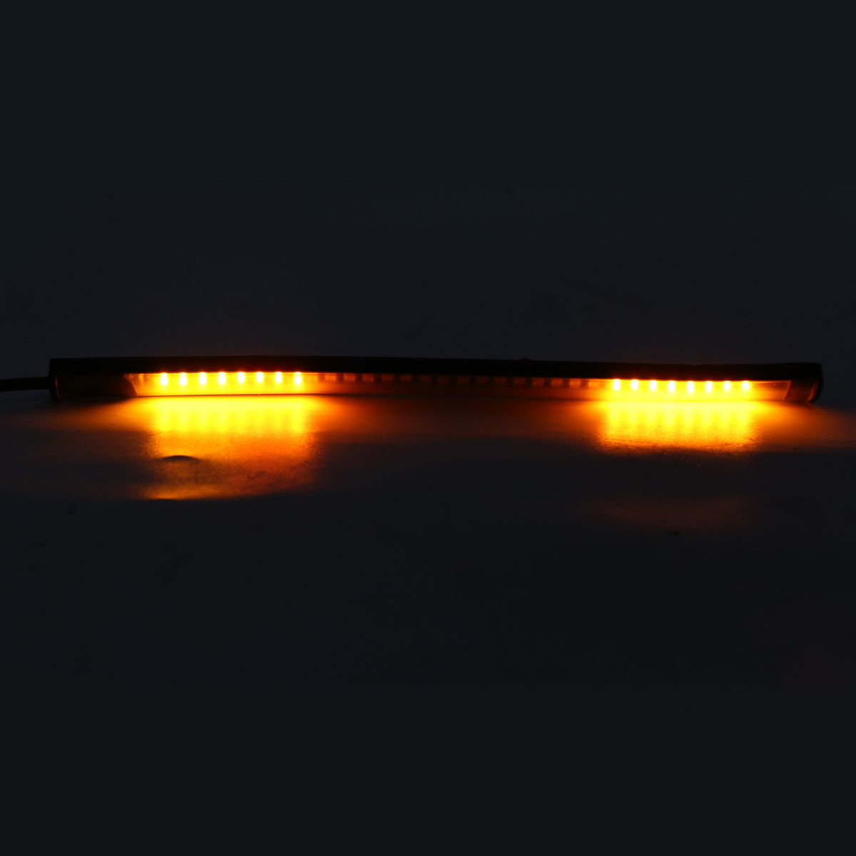 1PC DC 12V Flexible 48 LED SMD Strip Motorcycle Car Amber Turn Signal Light Red Brake Stop Light Lamp Super Bright 3528 LED