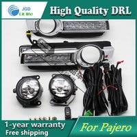 Free Shipping 12V 6000k LED DRL Daytime Running Light Case For Mitsubishi Pajero Montero 2015 2016