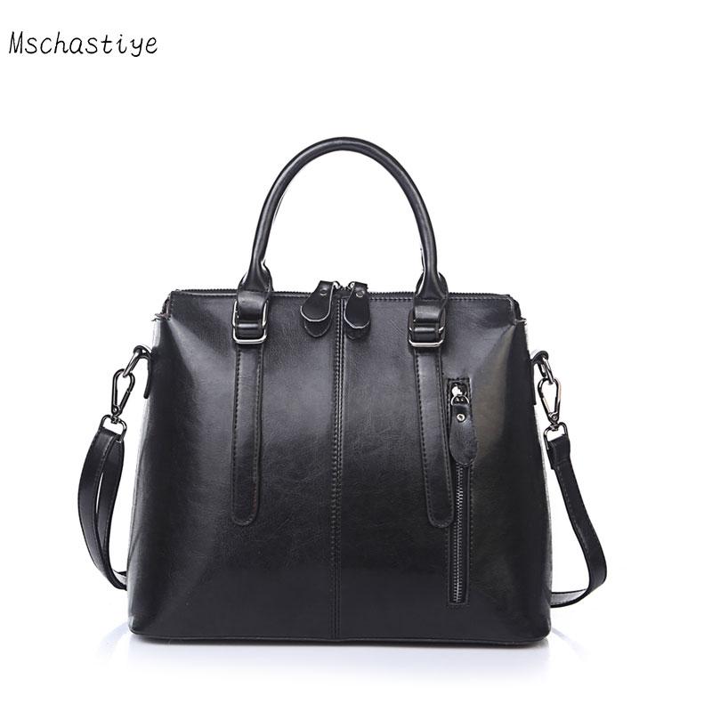 Genuine Leather bag Handbag Women Cow leather Vintage Crossbody bags Women Messenger Bag Zipper Black Red Tote Bags Mschastiye цена