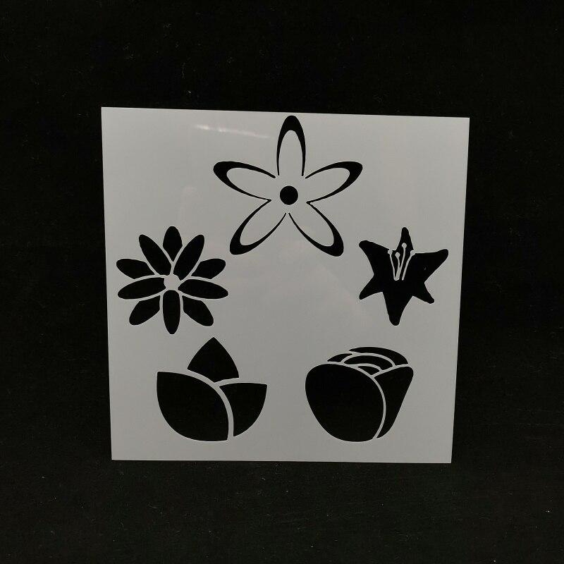 13*13 цветок ПВХ Многослойные трафареты для DIY скрапбукинга/фотоальбома декоративное тиснение DIY бумажные карты ремесла