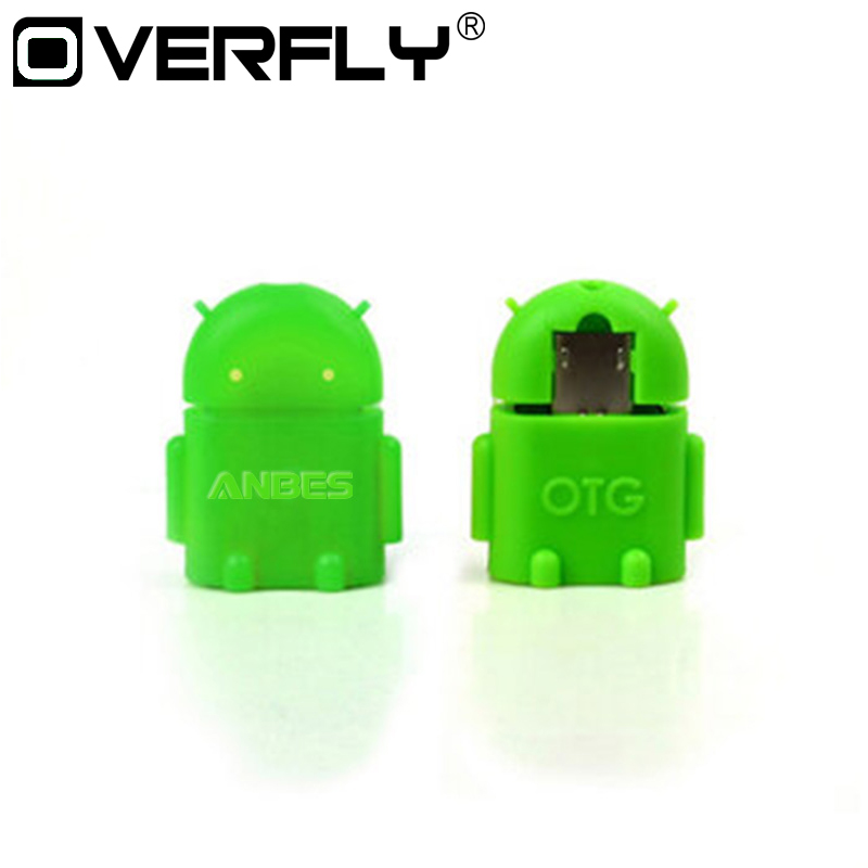 Mini USB OTG Adapter For Android Robot Shape Micro Converter 2.0 For Samsung Xiaomi Tablet PC Connect To U Flash Mouse Keyboard micro usb 2 0 to 10 100mbps ethernet lan adapter for tablet pc