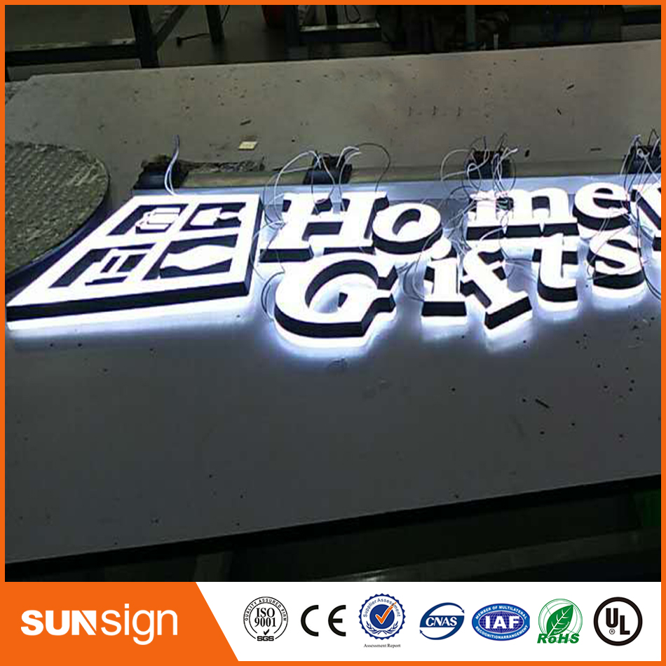Customized Advertising Acrylic Front Led Mini Letters And Signs