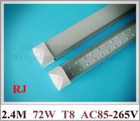 Compact Integrated All In One LED Tube Light Double Row T8 2400mm 2 4M 8FT
