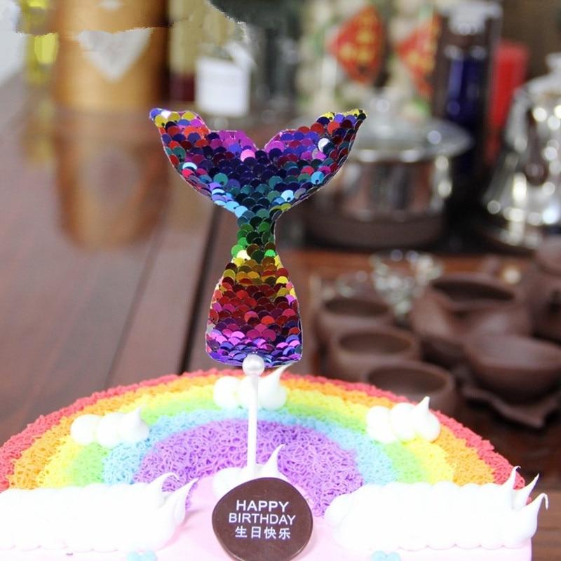 Creative Cake Decoration Mermaid Party Cupcake Cake Topper ...