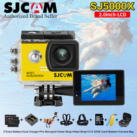 SJ5000X Elite SJCAM WiFi 4 K 24fps 2K30fps Giroscopio Deportes DV 2.0 LCD NTK96660 sj de Buceo 30 m Impermeable Cámara de Acción 5000 x cam