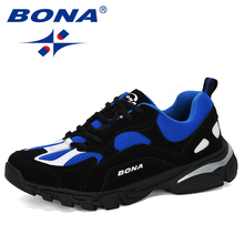 BONA 2019 ใหม่รองเท้าวิ่งผู้ชายกีฬากลางแจ้งรองเท้ารองเท้าผ้าใบสบายสบายกีฬาการฝึกอบรมรองเท้าชายรองเท้า