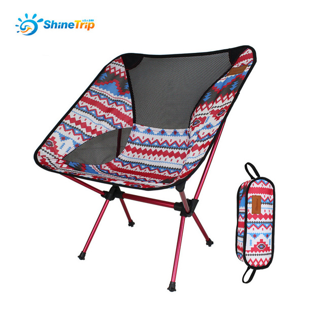 Shinetrip Portable Fishing Camping Hiking Garden Beach Foldable Chair Folding Seat Stool Carry Bag Tent Accessories Equipment