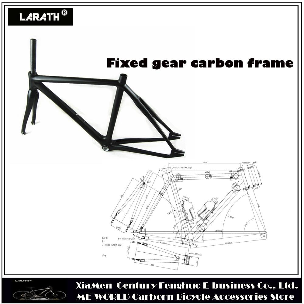Freies verschiffen carbon festrad rahmen carbonrahmen bahnrad größe ...