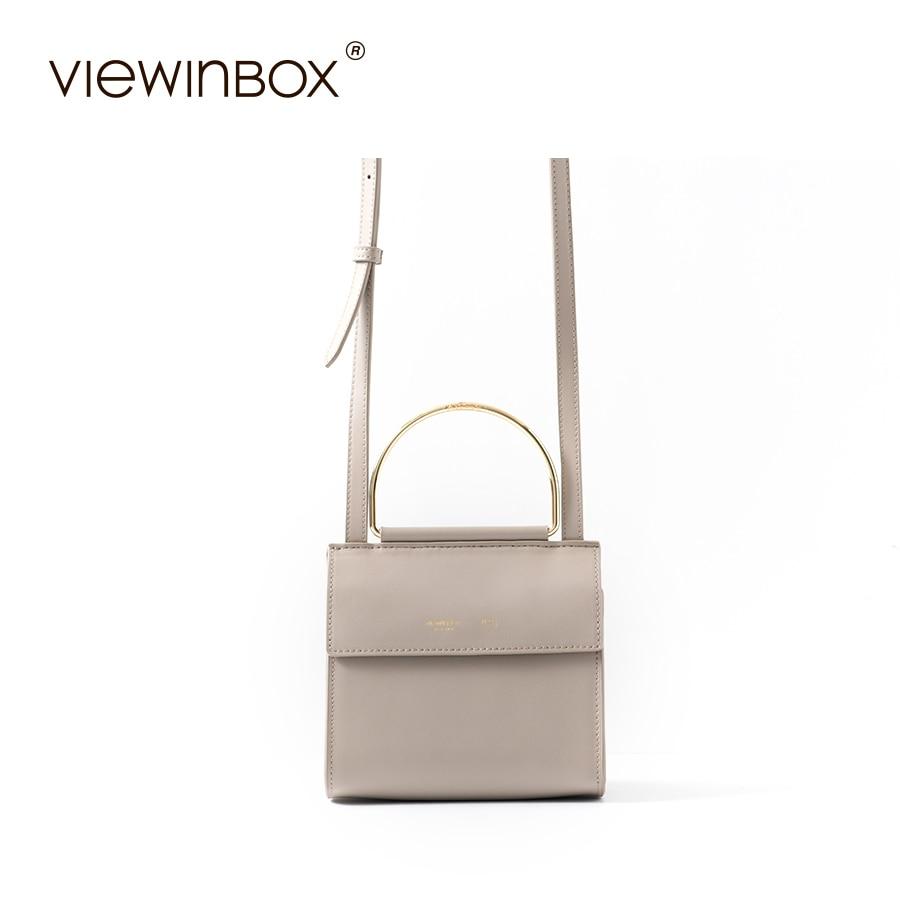 Viewinbox Split Leather Crossbody Women Bag Luxury Brand Lady Shoulder Messenger Bag split