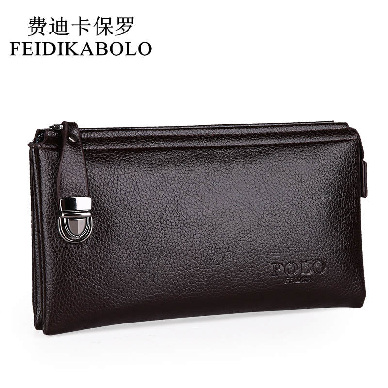 2015 New Designers POLO Brand Leather Purses and handbags High quality Business Casual men clutch bag Wallet for men