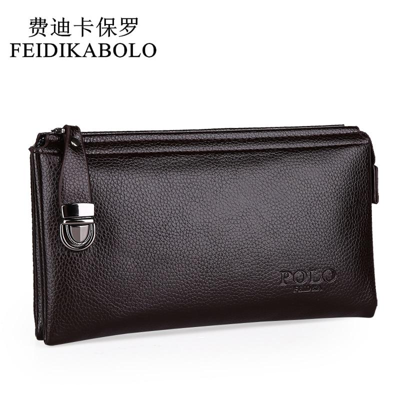 818a17b454a41 2015 nowych projektantów polo marki skórzane torebki i torby wysokiej  jakości business casual mężczyzna sprzęgłowa torba portfel dla mężczyzn