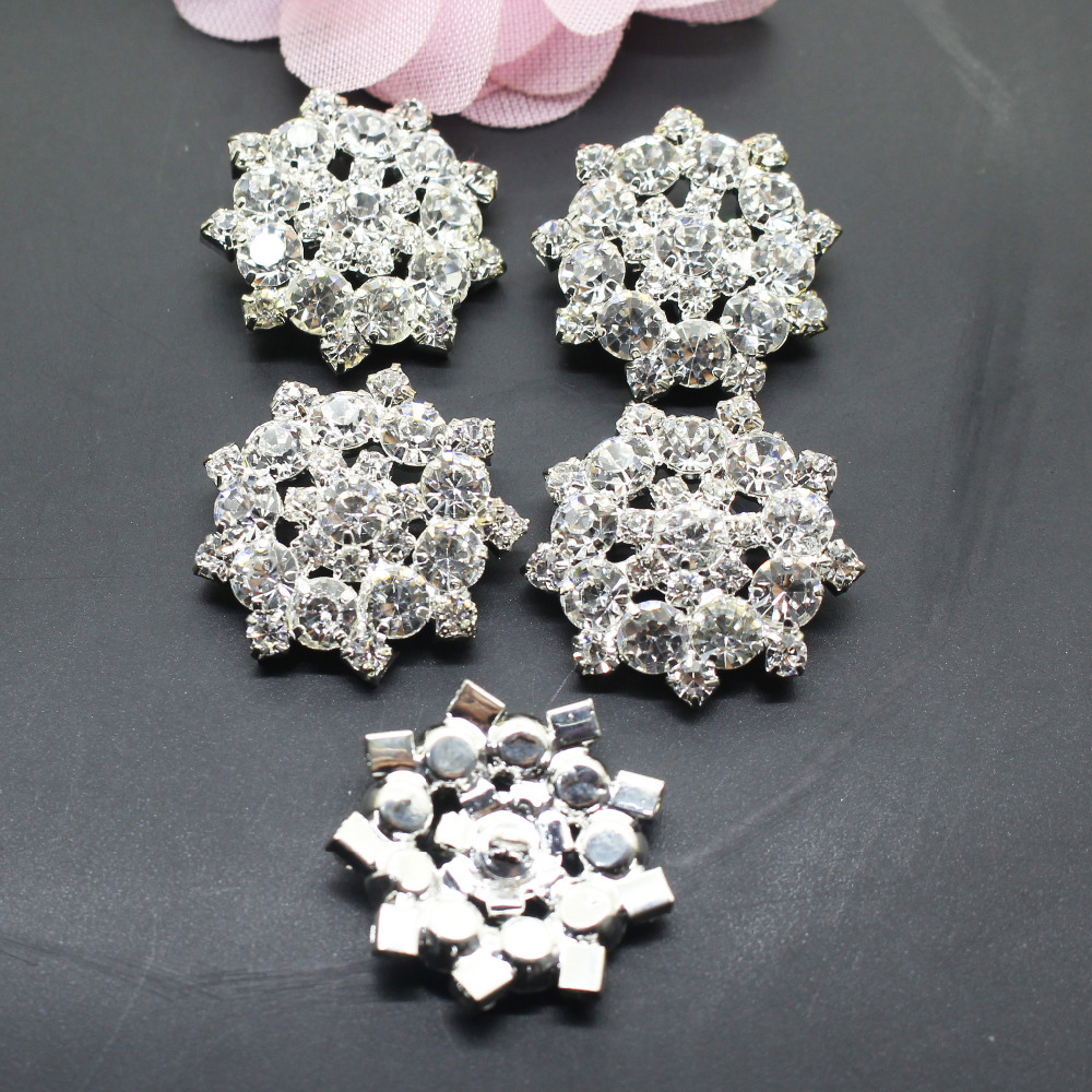 10pcs 25mm Drop Rhinestone button Invitation Ribbon Accessores Wedding Decorative.