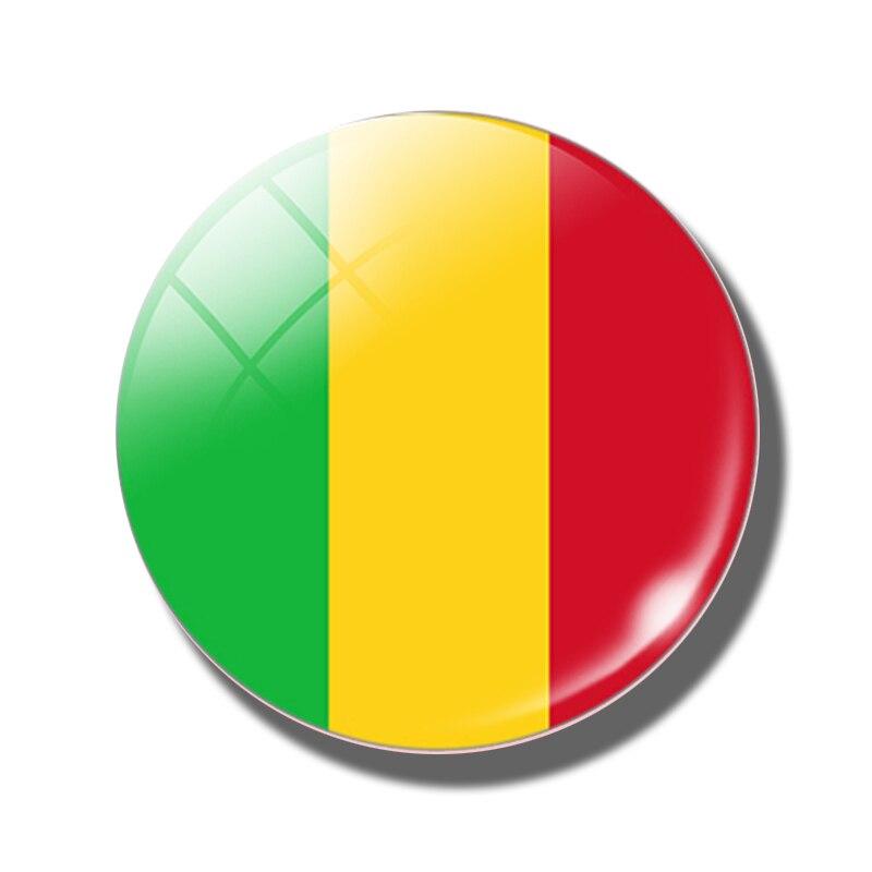 Us 0 71 49 Off Mali Flag 30 Mm Fridge Magnet Micronesia Tonga Malta Morocco Maldives Mali Monaco Flag Magnetic Refrigerator Stickers Home Decor In