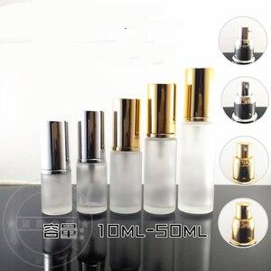 300 unids/lote botellas de Spray de loción de vidrio esmerilado 10 ml 20 ml 30 ml 50 ml tarros de crema de carga dividida tarros contenedor de cosméticos vacío