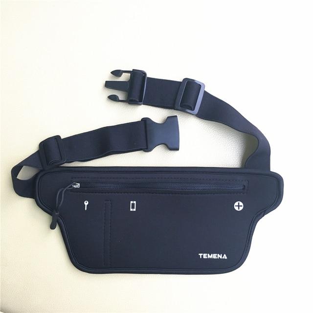 TEMENA Men Women Running Waist Belt Bag Phone Holder Jogging Belly Fanny Packs Gym Fitness Bags Sport Running Accessories 3
