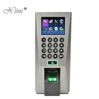 F18 Biometric Fingerprint Time Attendance And Access Control Color Screen With Keypad And TCP/IP Door Access Controller System