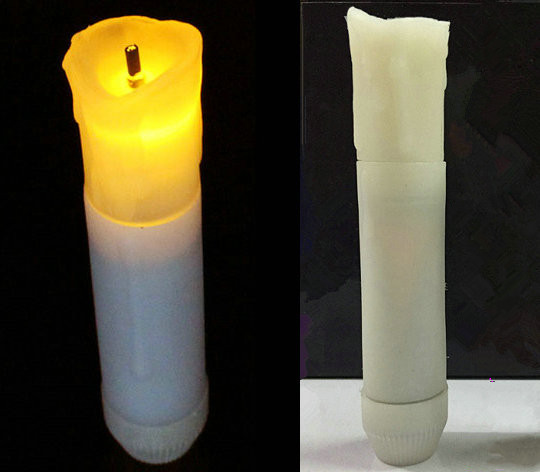 LED Battery Operated Tealight Candles Cream Color PAIR Primitive Country